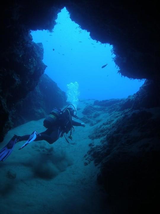 Salida al veril del blue hole de Lanzarote