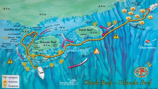 mapa yolanda reef