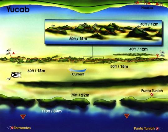 Plano de la Inmersión, Yucab, Cozumel