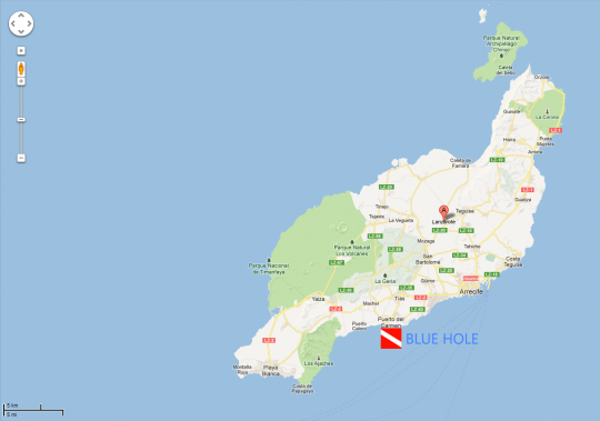 Lanzarote, el Blue hole