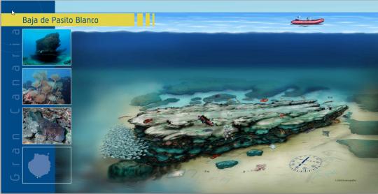 Mapa de la Baja de Pasito Blanco, haz click para ampliar
