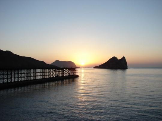 Embarcadero del Hornillo, isla del Fraile, y al fondo, Cabo Cope
