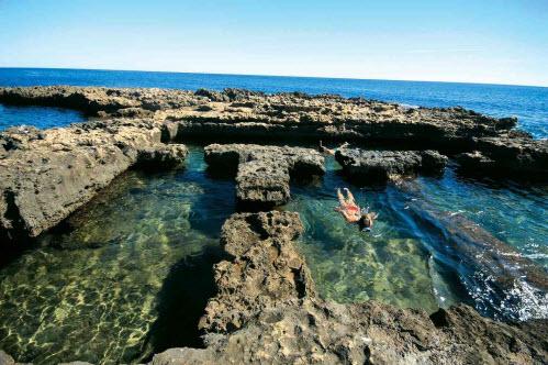 Los baños de la Reina, antigua piscifactoría romana